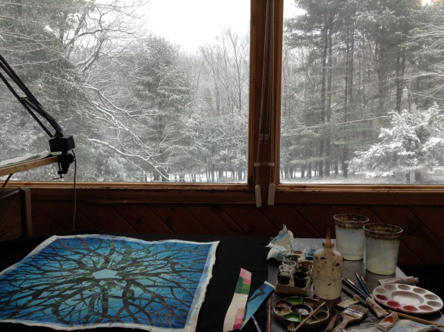 The view from my studio near Woodstock, NY.