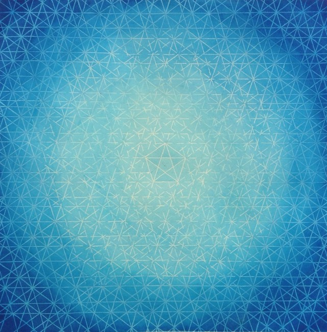 """Infinite Life"" geometric background."